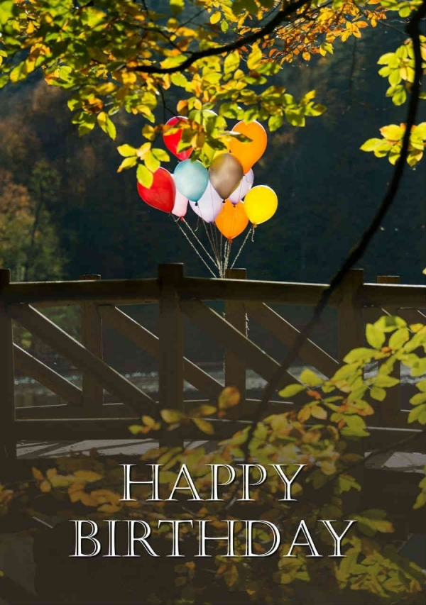 Birthday Celebration Digital eCard Front - Balloons