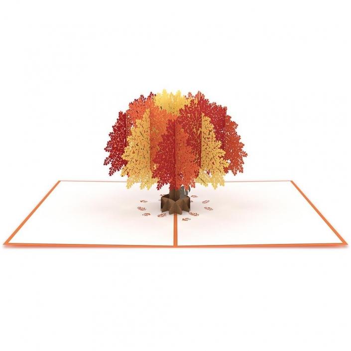 Might Oak Tree Pop Up Card fully opened