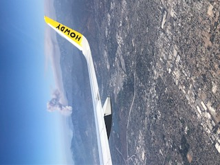 California Wildfire Outside Los Angeles as seen from a plane window