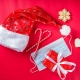 Festive Holiday Décor Objects with a Face Mask