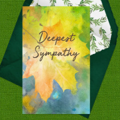 Memorial Digital eCard Front - Deepest Sympathy
