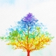 Celebration Digital eCard Front - Rainbow Tree