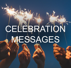 Hands holding sparklers and celebrating
