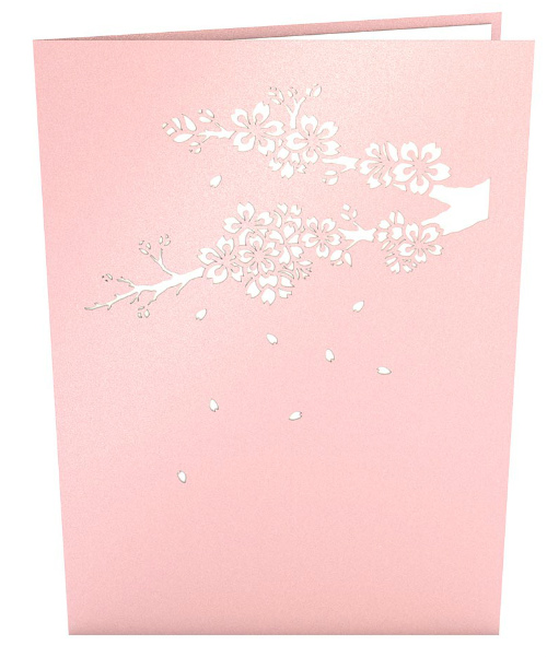 3D Pop-up Card Cover of Cherry Blossom tree