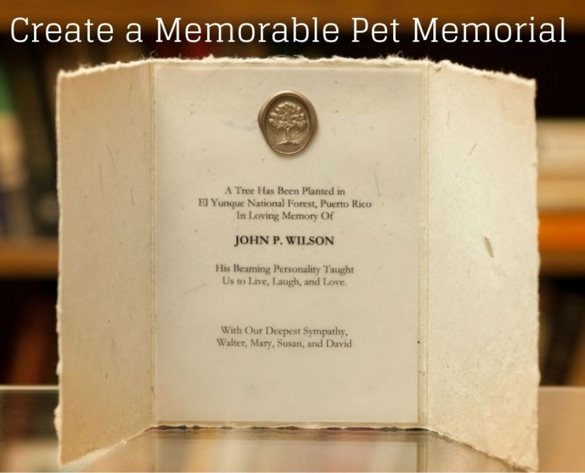 Create a Memorable Pet Memorial Tree Certificate on Handmade Paper