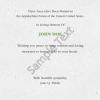 Memorial Digital eCard Deepest Sympathy Back Side Certificate Sample Text