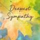 "Memorial Digital eCard Front - ""Deepest Sympathy"""