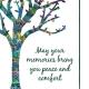 """Memorial Digital eCard Front - """"May Your Memories ..."""""""