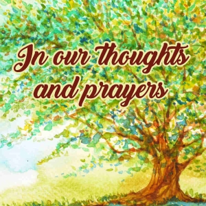 """Memorial Digital eCard Front - """"In Our Thoughts and Prayers"""""""