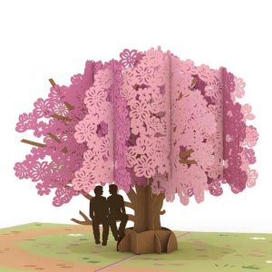 Pride Card - Dogwood Tree Popup Card Featuring Males on a Branch