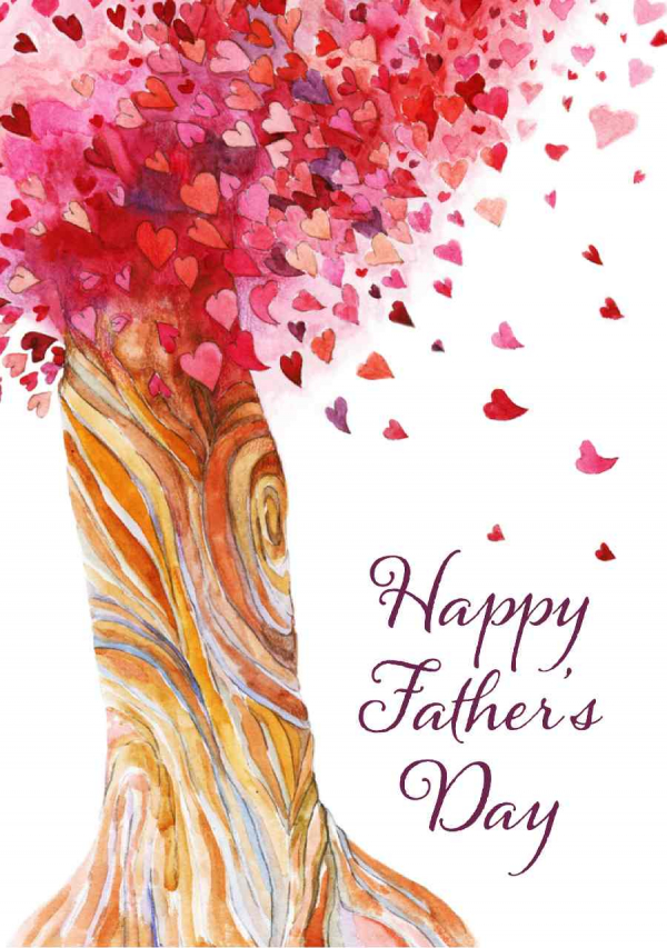 Heart Tree Father's Day eCard Front