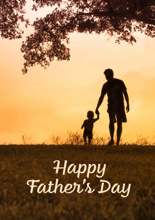 Holding Hands Father's Day eCard Front