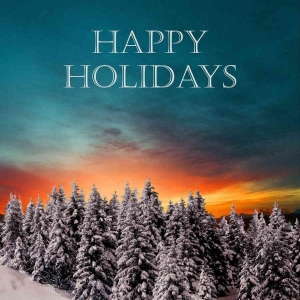 Holiday Digital eCard Front - Happy Holidays Sunset