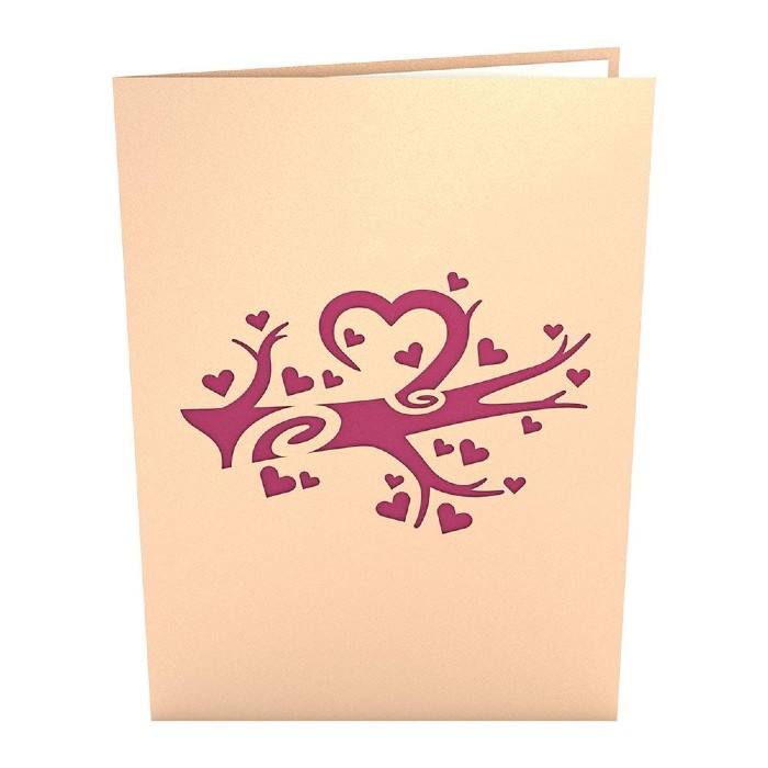 Heart Tree 3D Pop-Up Card Cover
