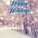 Holiday Digital eCard Front - Happy Holidays