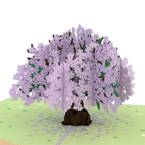 Jacaranda Tree 3-D Pop-up Card Inside Detail