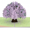 Jacaranda Tree Pop-up Card Inside Overview