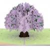 Jacaranda Tree 3-D Pop-up Card Inside Overview