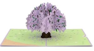 Jacaranda Tree Pop-up Card Inside Overview