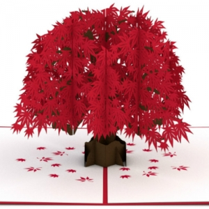 Dogwood Tree Love Scene (Male-Female) 3D Pop-up Card