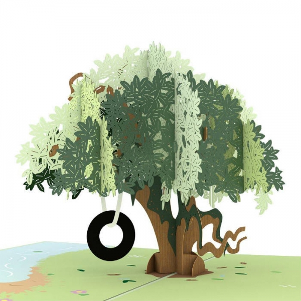 Live Oak Tree 3-D Popup Card Inside Detail Closeup