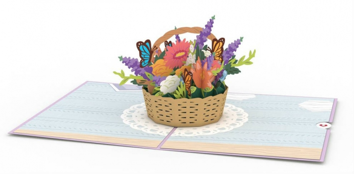 Mother's Day 3-D Pop Up Card Inside Overview