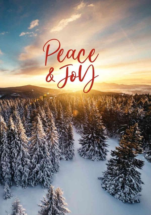 Holiday Digital eCard Front - Happy Holidays Sunset