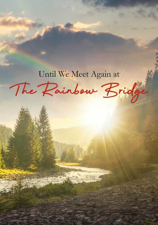 Pet Loss Digital eCard front - Rainbow Bridge