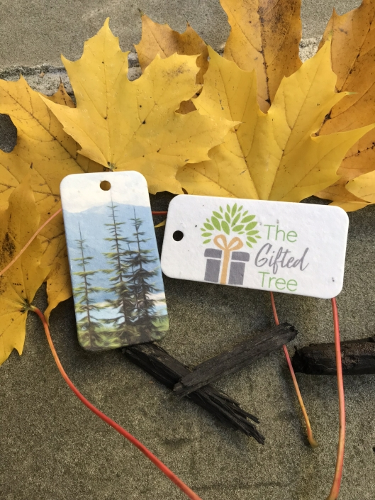 Plantable Seed Tags accompany each The Gifted Tree order
