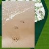 Pet Loss Digital eCard Front - Paw Prints in the Sand