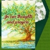 """Memorial Digital eCard Front - """"Thoughts and Prayers"""""""