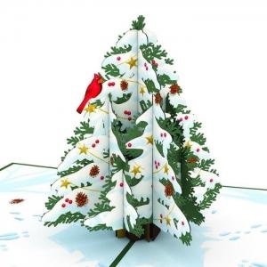 Christmas Tree Pop-up Card Close-up