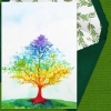 "Celebration Digital eCard ""Rainbow Tree"" Front"