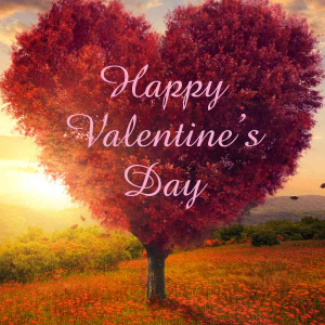 Valentines Digital eCard Front - Heart Shaped Tree