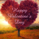 Valentines Digital eCard Front - Heart Shaped Tree