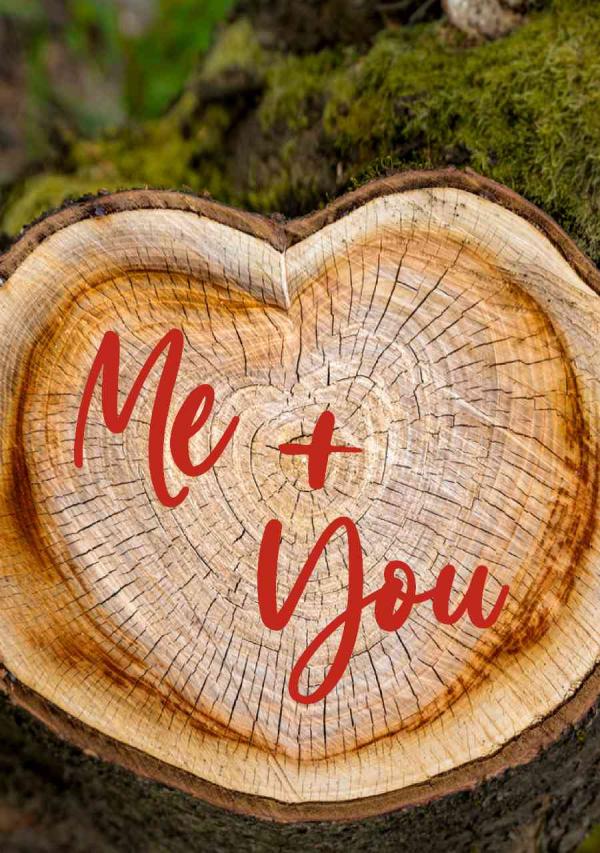 Valentines Digital eCard Front - Me + You