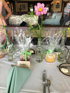 Wedding Favors set out on the reception table