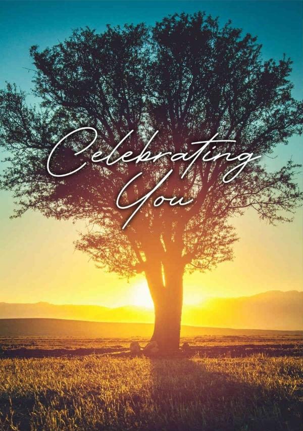 """Celebration Digital eCard Front - """"Celebrating You"""""""