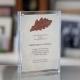 Acrylic Framed Handmade Paper Certificate