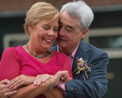 wedding of elderly couple