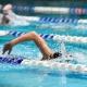 Swim racer in pool