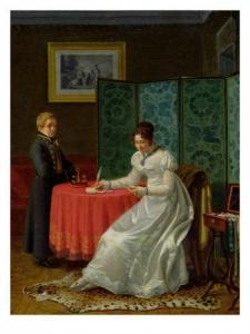 Women Writing a Note